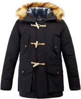 Gloverall Navy Arctic Padded Duffle Parka Coat