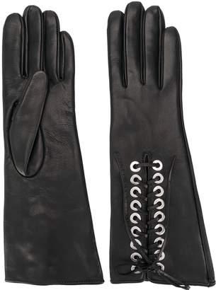 Manokhi lace up long gloves