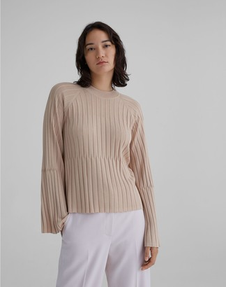Club Monaco Bell Sleeve Ribbed Sweater