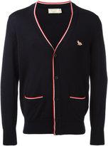 MAISON KITSUNÉ tricolour V-neck cardigan - men - Wool - XS