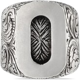 """Gucci O"""" letter ring in silver"""