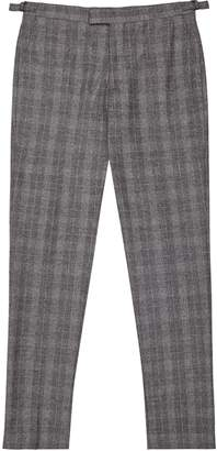 Reiss Rodney - Slim Fit Checked Trousers in Soft Grey