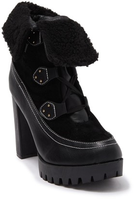 Chase & Chloe Faux Shearling Lug Sole Boot