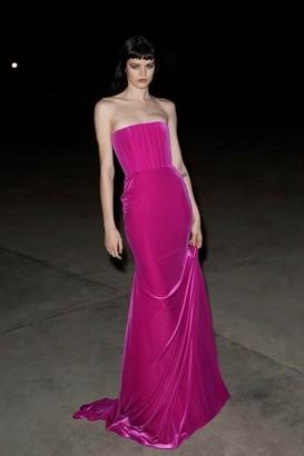 Alex Perry Payson Velvet Strapless Gown