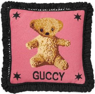 Gucci Teddy Bear Needlepoint Cushion