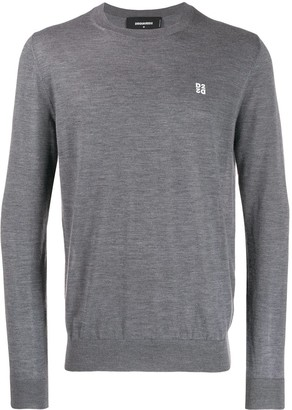 DSQUARED2 Cashmere Small Logo Sweater
