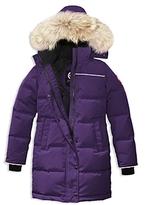 Canada Goose Girls' Juniper Fur-Trimmed Hooded Parka - Big Kid
