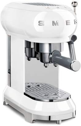 Smeg Retro Aesthetic Stainless Steel Espresso Coffee Machine