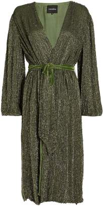 retrofete Audrey Sequin Wrap Dress