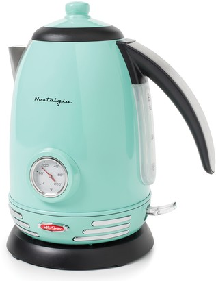 Nostalgia Electrics Retro Series 1.7-Liter Stainless Steel Electric Water Kettle