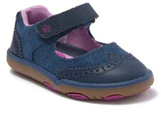 Hush Puppies Bella Leather Wingtip Mary Jane Flat (Baby & Toddler)
