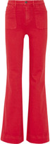Alice + Olivia Juno High-rise Wide-leg Jeans - Red