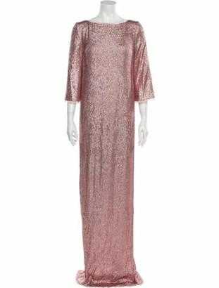 Rachel Zoe Bateau Neckline Long Dress Pink