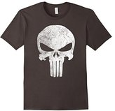 Marvel Punisher Retro Skull Symbol Graphic T-Shirt