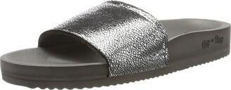 Flip*Flop Women's Pool Metallic Cracked Open Sandals