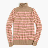 J.Crew Italian featherweight cashmere turtleneck in stripe