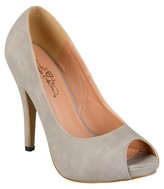 Journee Collection Women's Peep Toe Platform Pumps