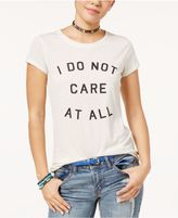 Hybrid Juniors' Do Not Care Graphic T-Shirt