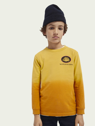 Scotch & Soda Dip-dye long sleeved organic cotton T-shirt | Boys