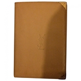 Saint Laurent Beige Leather Wallet