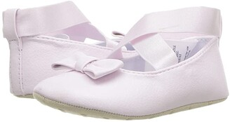 Janie and Jack Cross Strap Ballet Flat (Infant) (Pink) Girls Shoes