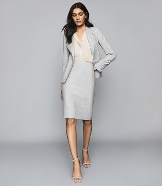 Reiss Thea - Tailored Skirt in Grey