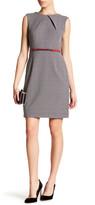 Sandra Darren Geo Print Dress (Petite)
