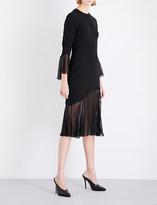 Prabal Gurung Flounce-detail silk dress