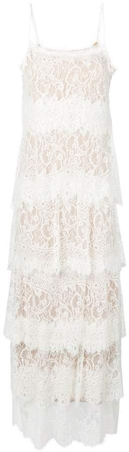 Aniye By layered lace panel dress