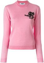 MSGM embellished logo sweater