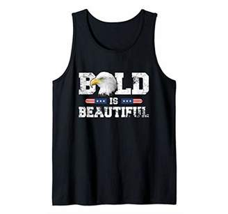 Bald Is Beautiful American Patriotic Eagle 4th of July Gift Tank Top