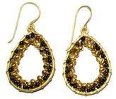 Ananda Brass Beaded Earrings