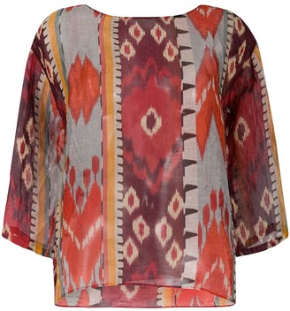 Forte Forte Abstract Print Blouse