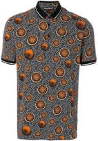 Dolce & Gabbana abstract and orange print polo shirt