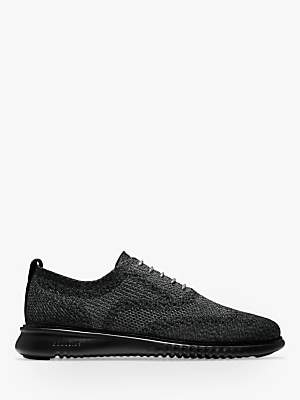 Cole Haan Zerogrand Stitchlite Knitted Oxford Shoes, Black/Magnet