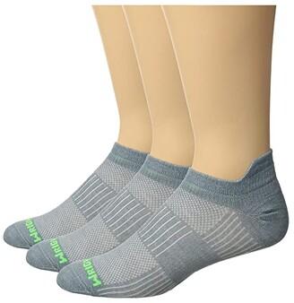 Wrightsock Cool Mesh II 3-Pack (Steel Grey) Crew Cut Socks Shoes