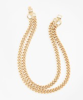 Brooks Brothers Gold-Plated Two-Strand Curb Chain Necklace