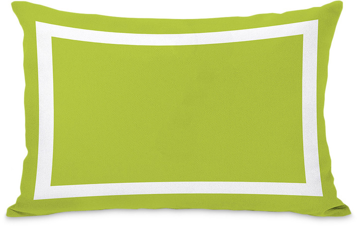 Samantha Simple Square Lime Green Outdoor Pillow