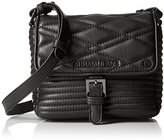 Armani Jeans Quilted Eco Leather Moto Inspired Crossbody