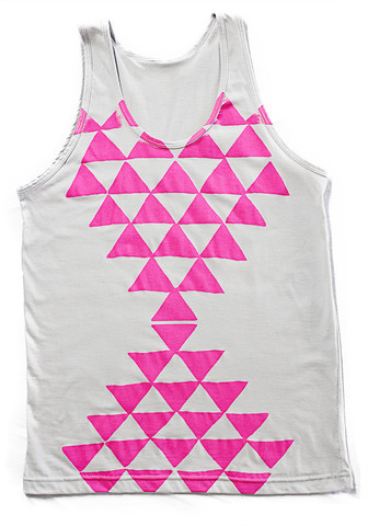 Mary Meyer Triangle Rising Tank Gray Pink