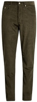 MAISON KITSUNÉ Slim-fit cotton-corduroy trousers