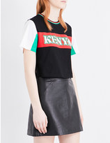 Opening Ceremony Kenya cotton-jersey cropped t-shirt