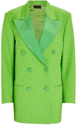 Dundas Green Leopard Print Blazer