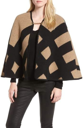 Burberry Blanket Check Wool & Cashmere Poncho