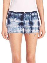 J Brand Low-Rise Photo Ready Tie-Dye Cut-Off Shorts