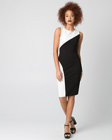 Le Château Ponte Colour Block Crew Neck Shift Dress