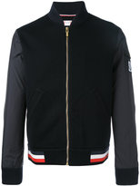 Moncler Gamme Bleu mixed media baseball jacket - men - Cotton/Polyamide/Polyester - S