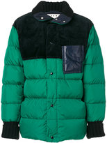 Marni contrast detail puffer jacket