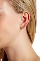 Betsey Johnson Wing Ear Cuff & Heart Stud Mismatched Earrings
