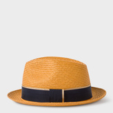 Paul Smith Men's Mustard Straw Panama Hat